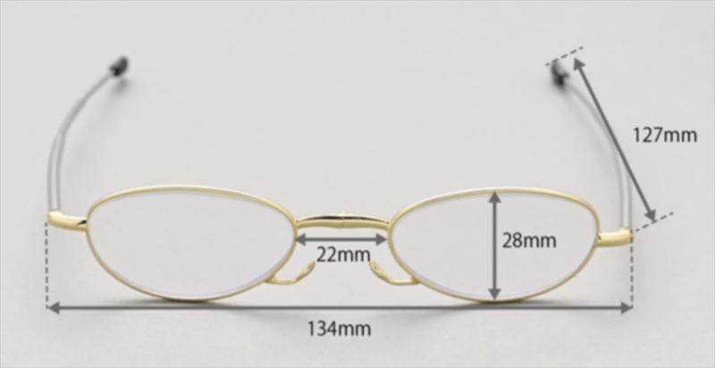 【プレゼントにも】小さくて軽くかさばらない、鯖江メイドの老眼鏡