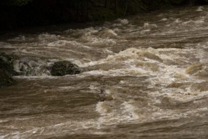 大雨 増水