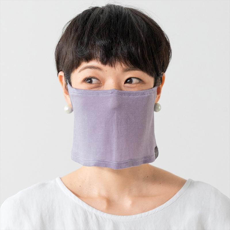 【ひんやり】水に濡らしてしぼってフレフレ!夏のマスク悩みに「涼やかマスクスヌード」