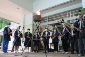 【宍粟市】たたら製鉄の炎から採火 東京パラ聖火フェス 採火式