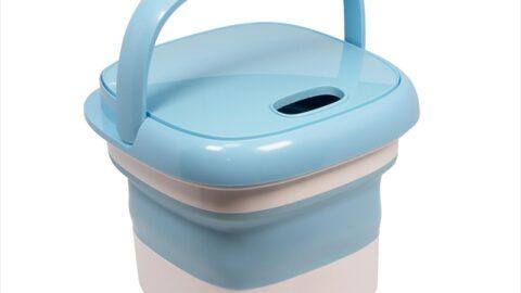 【便利】コンパクトで持ち運びも楽♪「折りたたみ洗濯機 mush」が発売