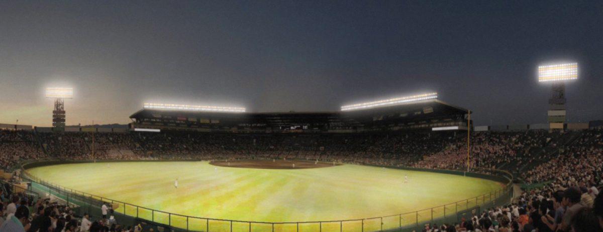 【阪神甲子園球場】2021年度にスタジアム照明をLED化