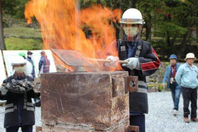 【宍粟市】たたら製鉄の炎から採火|東京パラ聖火フェス 採火式