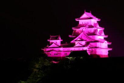 【姫路市】姫路城がピンクに染まる!ピンクリボンイベント2021