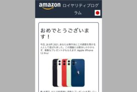 【偽サイト】amazonロイヤリティプログラムでiPhone12pro|当選はウソ!