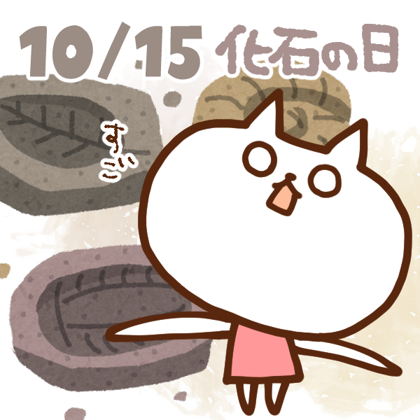 【今日はなんの日】10月15日 化石の日