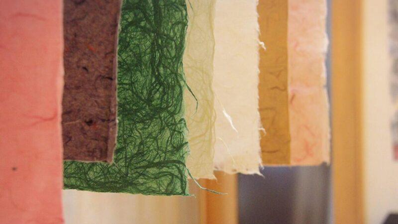 【多可町】「和紙博物館」で杉原紙素材展が開催