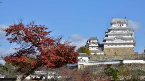秋=姫路城と紅葉
